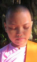 Sister Sucari in meditation